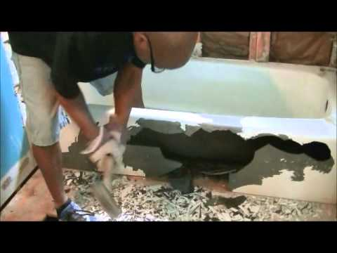 How To Remove Cast Iron Bath Tub - YouTube