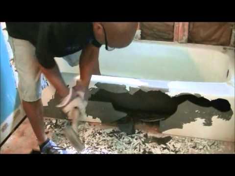 How To Remove Cast Iron Bath Tub  YouTube