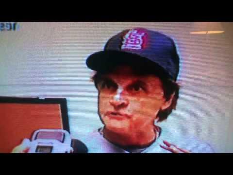 Tony Larussa reactions-Cardinals vs Brewers