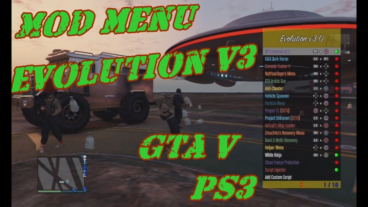 MOD MENU Evolution v3 GTA V PS3 1 27/1 28 DEX/CEX BLES/BLUS +DOWNLOAD