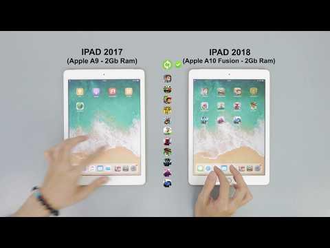 SpeedTest iPad 2017 vs iPad 2018 - Apple A9 vs Apple A10 Fusion