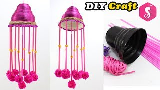 Easy Ceiling Hanging from Waste FAN CANOPY | Easy DIY Craft | Room Decor 2018