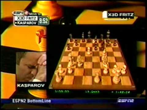 Kasparov vs X3D Fritz, Man vs Machine, Game 4 Part 1