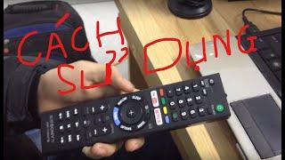 Cách sử dụng điều khiển tivi sony
