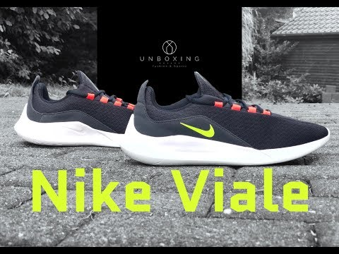 nike-viale-'black/volt--solar-red'-|-unboxing-&-on-feet-|-fashion-shoes-|-2018