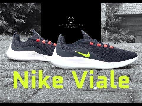 Nike Viale 'Black/Volt- Solar red' | UNBOXING & ON FEET ...