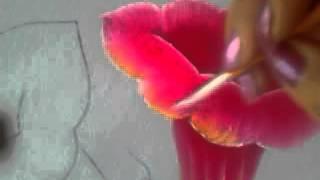 Pintando lindas campânulas