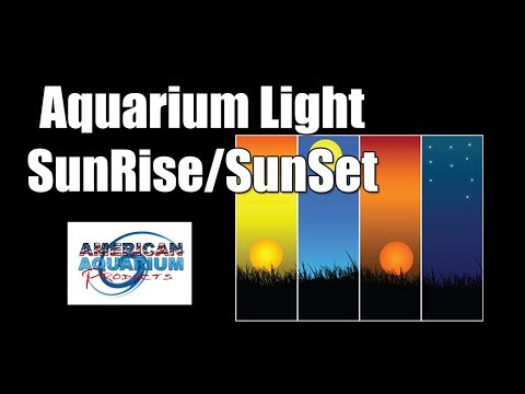 Aquarium Lighting- Sunrise Sunset Ramping & Lunar Cycle