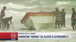 Huracán María se elevó a categoría 5