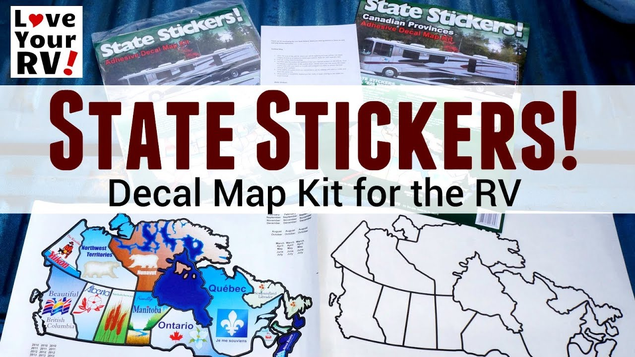 State Stickers Decal Map Kit for the RV - YouTube