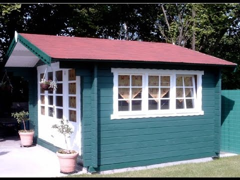 Blackpool Log Cabin 4 4 X 3 4m In 58mm Logs And Double Glazed