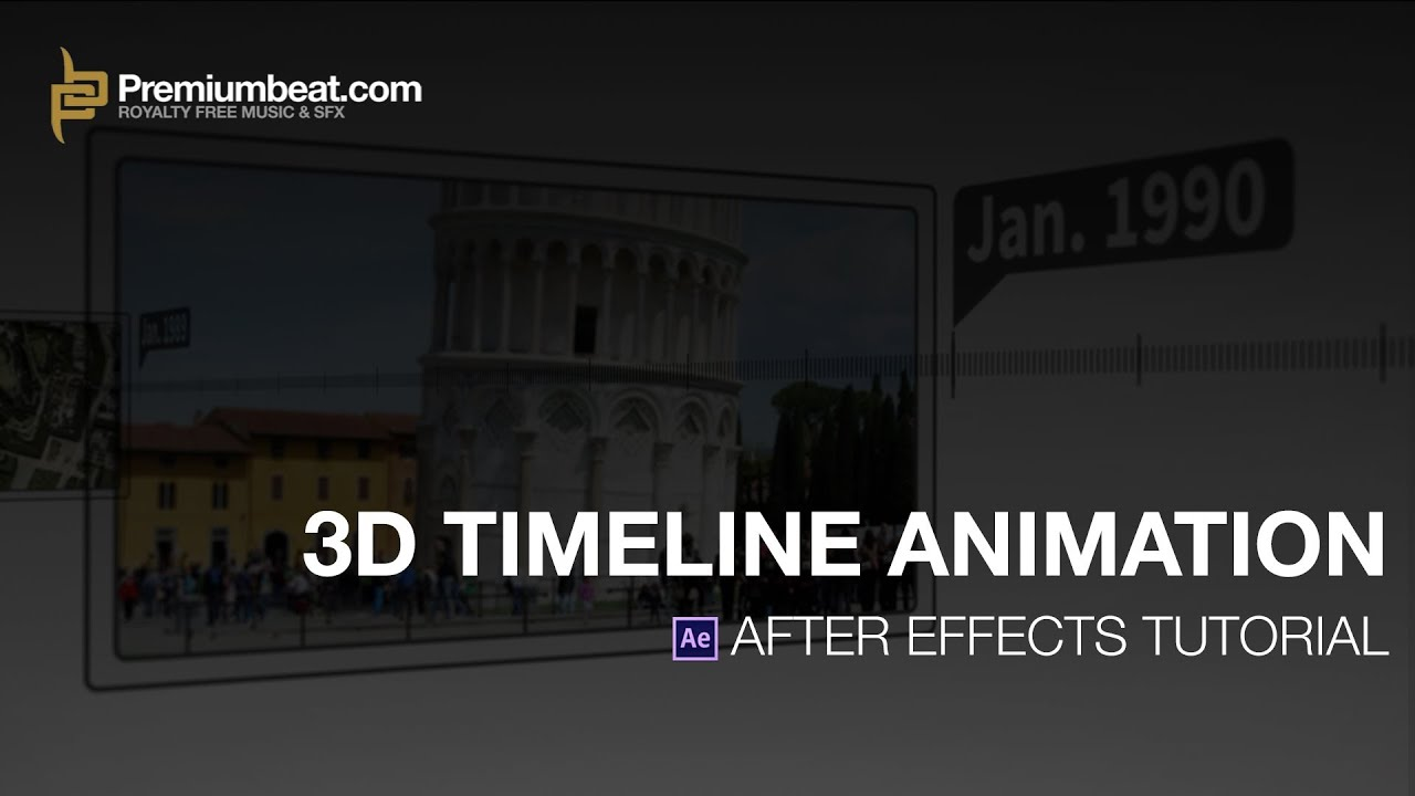 after effects video tutorial: 3d timeline animation - youtube, Powerpoint templates