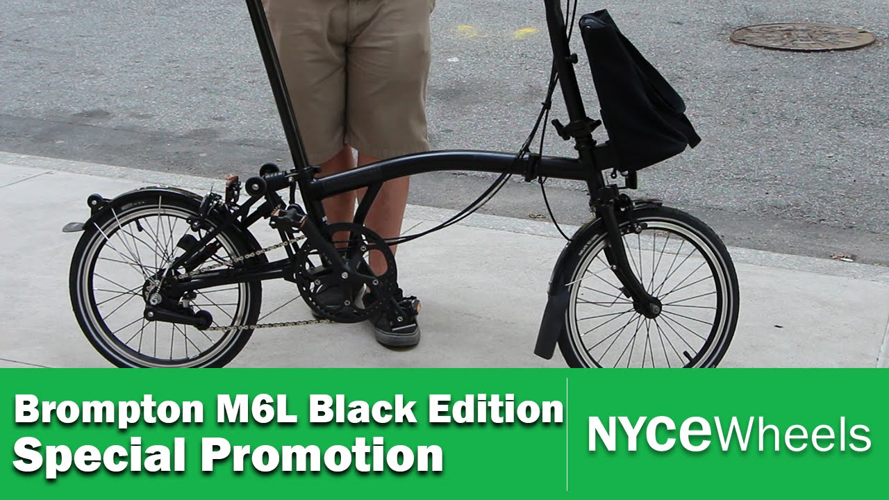 Special Promotion Brompton M6L Black Edition + Free Tote