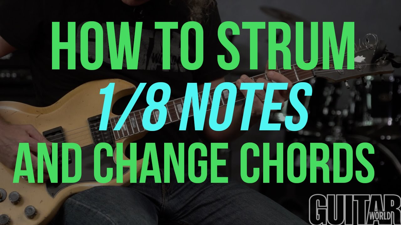 How To Strum 18 Notes Guitar Basics Youtube