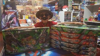 Opening DECIDUEYE GX Premium Collection Box and 9 Guardians Rising Booster Packs!! EPIC ANNOUNCMENT!