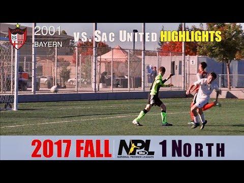 2017-11-18 ASR Bayern NPL G7 HIGHLIGHTS v Sac Utd