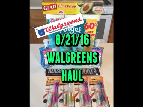8/21/16-Walgreens Haul..cheap pencils, Herbal Essences & more!