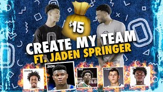Zion Williamson & Tyler Herro On THE SAME TEAM!? IMG's Jaden Springer Drafts SUPER TEAM With $15 😱