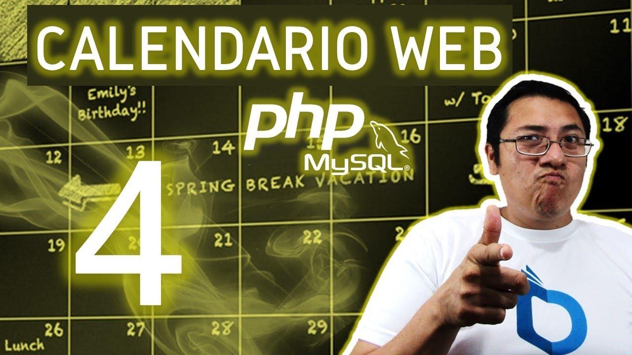 Calendario Php.Calendario Web Con Php Y Mysql Utilizando Fullcalendar Video 4 Mostrar El Modal