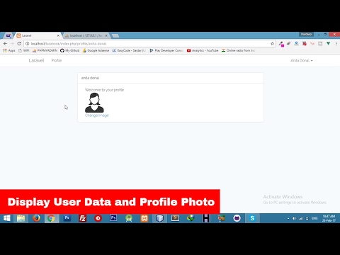 [2017] Display User || Profile Photo ||  Social Networking Laravel 5.4 Tutorial - Part 3