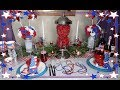 DIY Dollar Tree Fourth of July Centerpiece and Tablescape