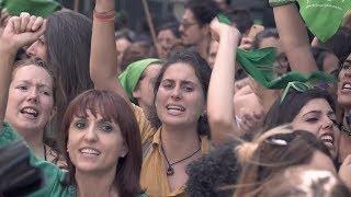 Concentración en apoyo de la ley del aborto legal en Argentina.