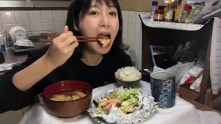 【北海道料理】野菜たっぷり鮭のちゃんちゃん焼きを簡単レシピで作ってみた【フライパン】
