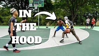 D3 College Hooper Disguised As Old Man VS The Hood !