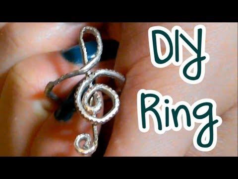 DIY - Notenschlüssel Ring - YouTube