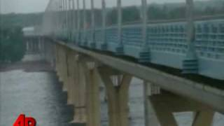 Raw Video: Russian Bridge Sways in the Wind