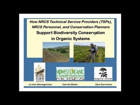 How NRCS Technical Service Providers (TSP) Can Support Biodiversity Conservation in Organic Systems