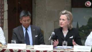 CLINTON SUPPORTS AZERBAIJAN GOVERNMENT