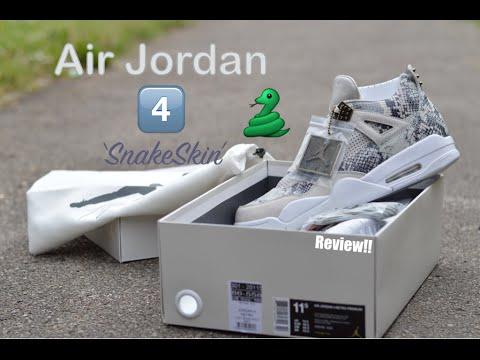 hot sale online a7a33 0f69b Air Jordan 4 'SnakeSkin' Review!