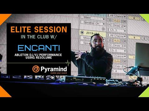 Ableton DJ/VJ Performance Using Resolume With Encanti