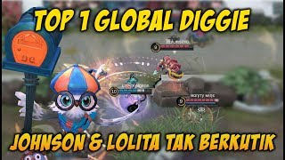 Top 1 Global Diggie Dengan Skill Ultimate Buat Johnson dan Lolita Tak Berkutik