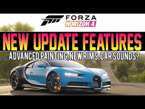 Forza Horizon 4 - NEW UPDATE FEATURES! - New Rims, ADVANCED Paint Options, CAR SOUNDS? thumbnail