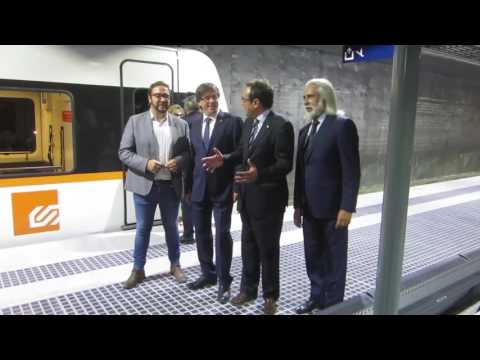 Inauguració de les dues noves estacions dels Ferrocarrils de la Generalitat a Sabadell