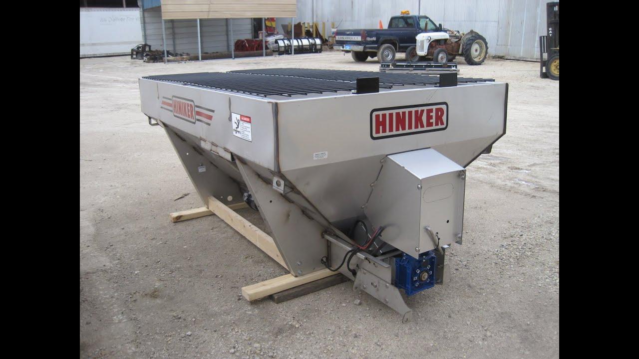 Salt Spreader For Sale >> NEW 7' 2 cubic yard Hiniker Auger drive SS salt spreader sander sb/lb pickups! HINIKER775 - YouTube