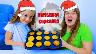 Ulya and mommy are preparing a Cake for Christmas