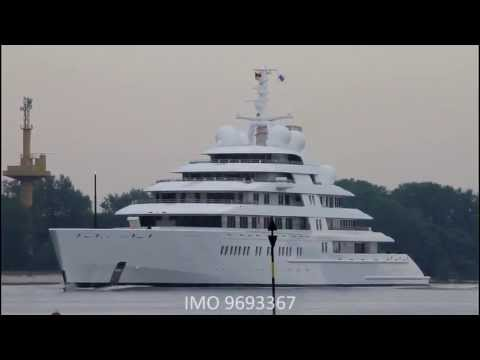Megayacht AZZAM - Weser höhe Brake Unterweser / Germany / LARGEST SUPERYACHT EVER