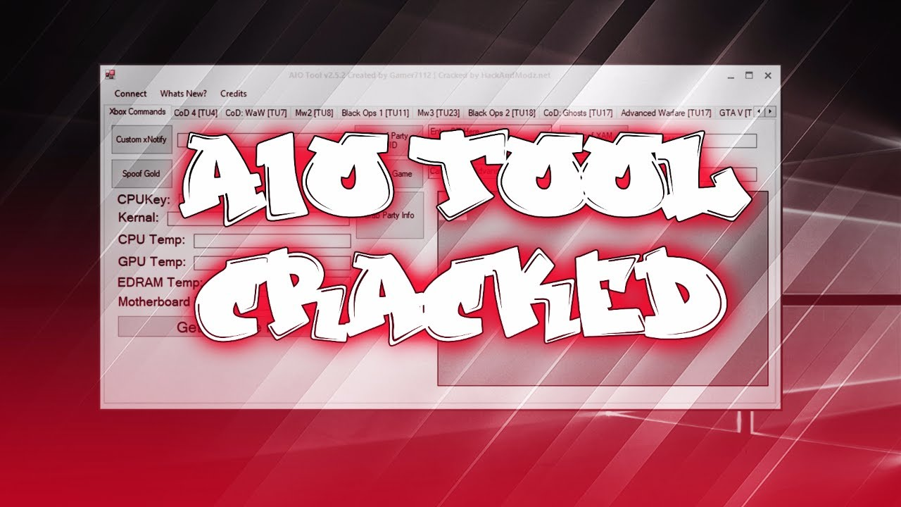 Gamer7112's AIO Tool v2 5 2 Cracked! FREE Multi Cod Tool + Download  (RGH/Jtag)
