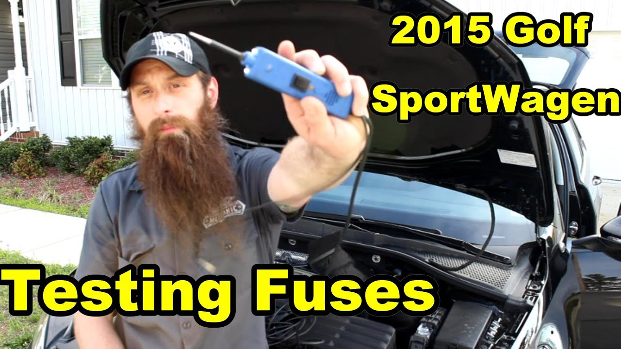 Testing Fuses 2015 Golf Sportwagen Youtube Tdi Fuse Box Key