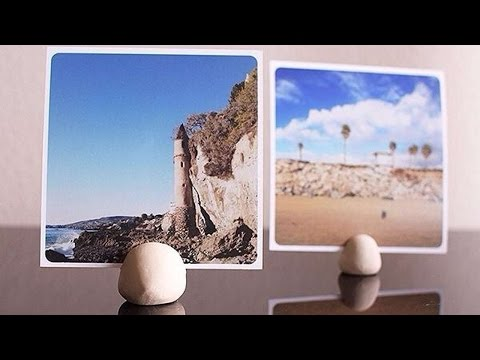 How To Make An Easy Clay Photo Print Display - DIY Home Tutorial - Guidecentral
