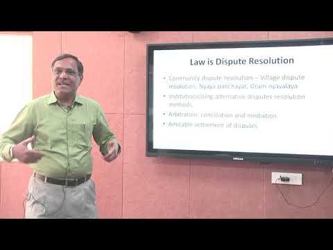 Introduction to Law and Legal System by Prof  Srikrishna Deva Rao, NLU Odisha