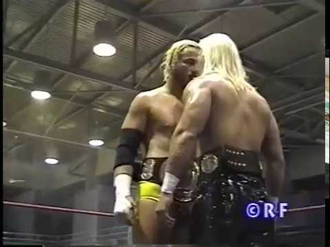 IWA:  Glamour Boy Shane vs. Steve Corino - IWA vs. ECW Title Match (2000)