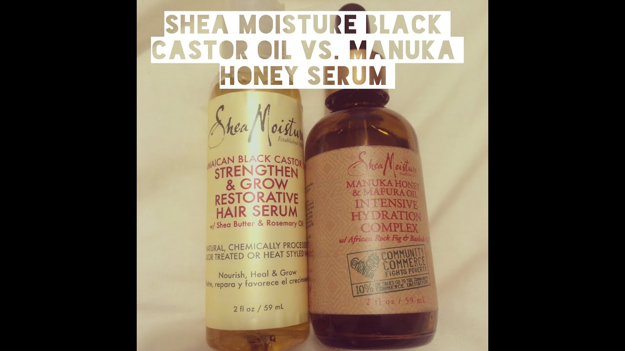 Shea Moisture Serum Showdown Jamaican Black Castor Oil Vs
