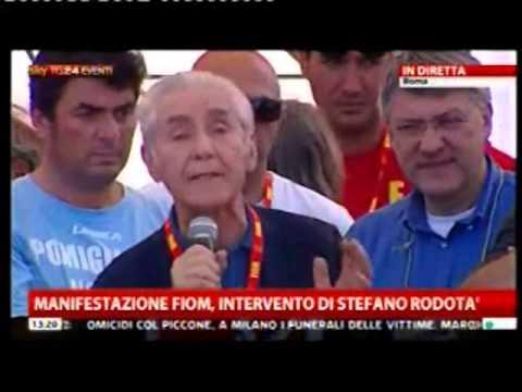Manifestazione F.I.O.M. : intervento di Stefano Rodotà   18 maggio 2013