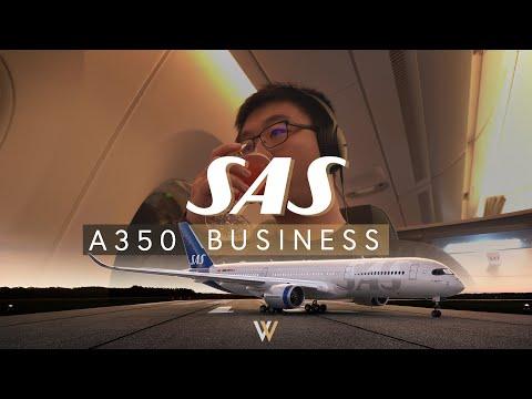 SAS Scandinavian Airlines A350 Business Class - Chicago to Copenhagen