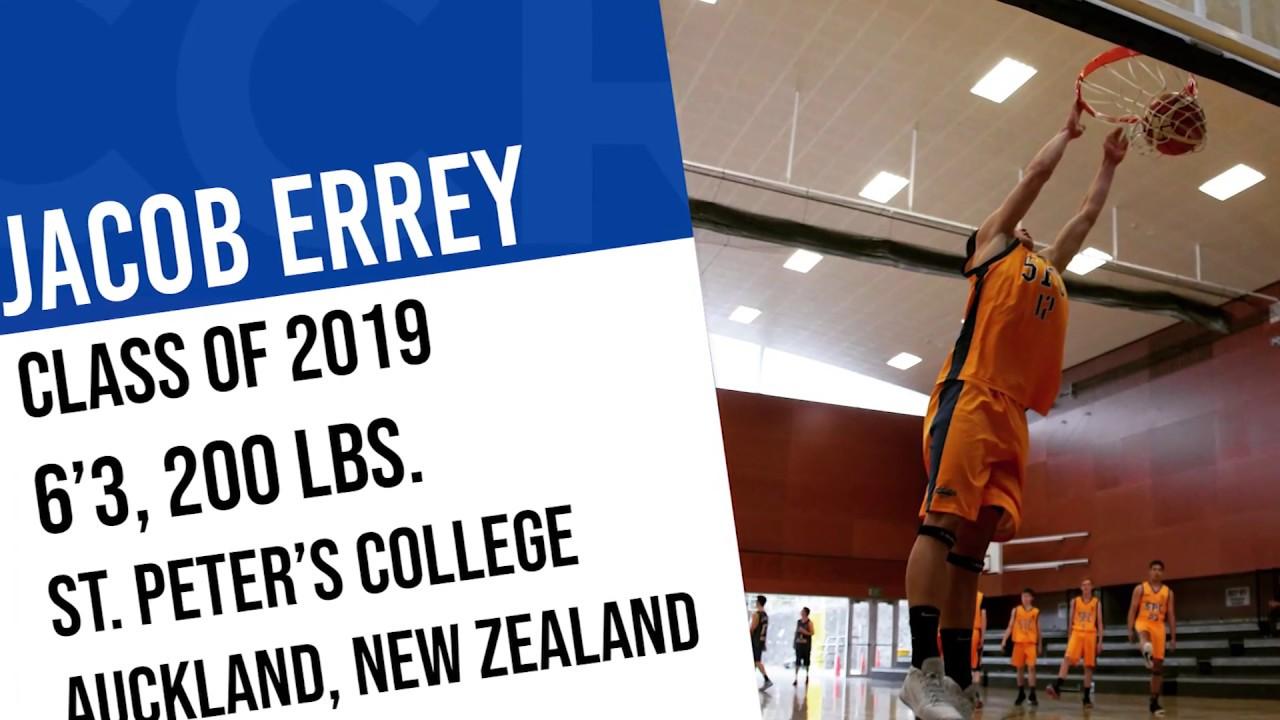 Jacob Errey (Blue/Yellow #12), 6'3, Small Forward, Class of 2019 (Auckland, NZ)