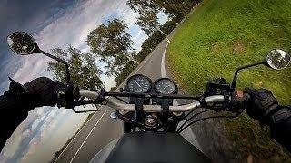 RAW onboard: little Honda GOING HARD! Honda CB500